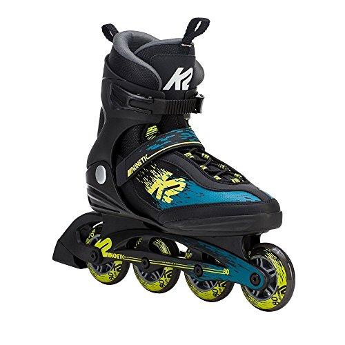 王族バックグラウンド岸K2(ケーツー) インラインスケート 2018 KINETIC 80 Mens Black-Green-Yellow 男性用 I180201901 日本正規品 保証書あり