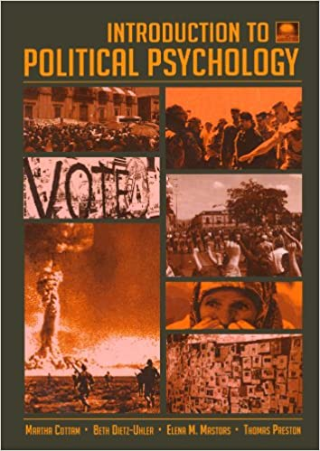Introduction to Political Psychology: 2nd Edition: Amazon.es: Martha L. Cottam, Beth Dietz-Uhler, Elena Mastors, Thomas Preston: Libros en idiomas ...