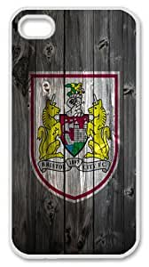 Bristol City FC wood background Iphone 4 4S Case PC Material White
