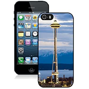 NEW Fashion Custom Designed Cover Case For iPhone 5S Seattle Center Black Phone Case