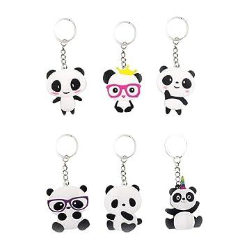 Toyvian Adorable Panda en Forma de Llavero Creativo PVC ...
