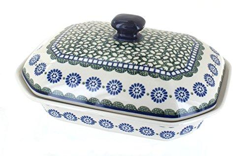 Polish Pottery Maia Medium Covered Baking Dish with Lid