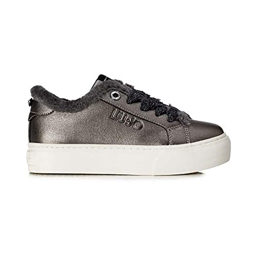 Liu Jo Sneaker L3A4 20031 0193923 Canna di Fucile con Pelo ai Bordi (36 EU c55f9a471c3