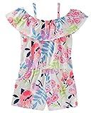 Osh Kosh Girls' Toddler Sleeveless Romper, Tropical, 4T