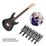 Saddle for Electric Guitar, 6 Roller Bridge Saddles for Fender Strat Tele Electric Guitar 4