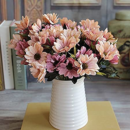 Joylivecy 6 branches 10 head floral artificial flower bouquet silk joylivecy 6 branches 10 head floral artificial flower bouquet silk flowers spring daisy flower mightylinksfo