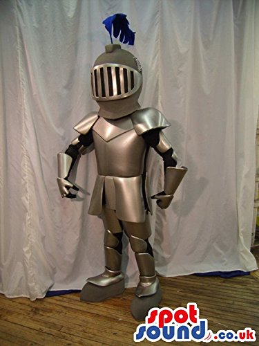 Warriors Mascot Costume - Amazing Realistic Medieval Warrior Armor Character SPOTSOUND US Mascot Costume