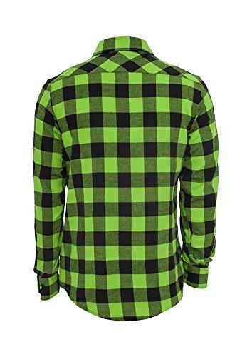 TB297 Checked Flanell Shirt Hemd, Größe:S;Farbe:blk/burgundy