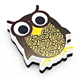 Ashley ASH10009BN Magnetic Whiteboard Eraser, Wise Owl, MultiPk 6 Each