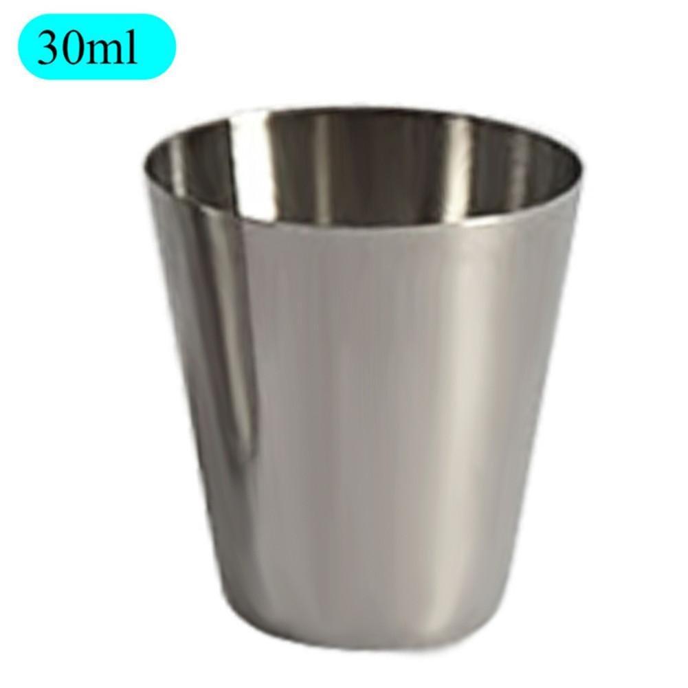 feiledi Trade Stainless Steel Mug Liqueur Glass Drop Resistance Children Water Bottle White Wine Cup 30ml50ml180ml320ml - 4 Pack