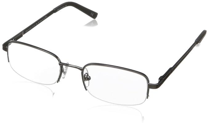6dcec9675fc4 Amazon.com  Private Eyes Men s Hugh Oval Reading Glasses