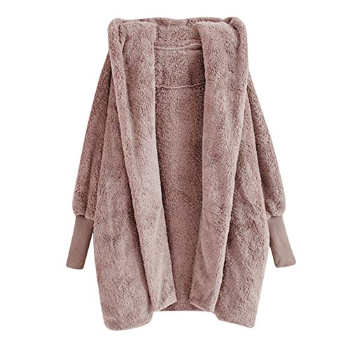 LiPing Fashion Winter Warm Plush Pockets Cotton Coat- Lightweight Polyester Blanket Couch/Sofa/Bed/TV Blanket/Car Blankie/Sofa Sleeping (M, Pink)