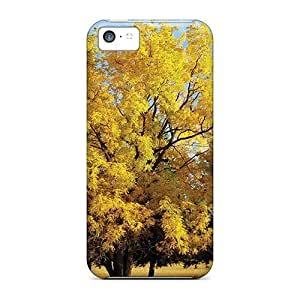 New DaMMeke Super Strong Yellow Oak Tree Tpu Case Cover For Iphone 5c
