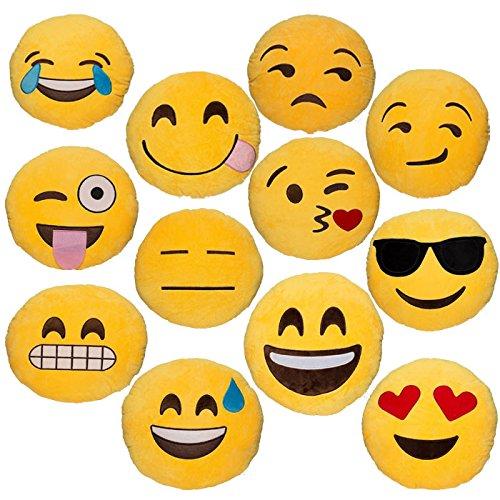 Babyhaven Emoticon Novelty Emoji Stuffed Pillow Set of 12 by Babyhaven