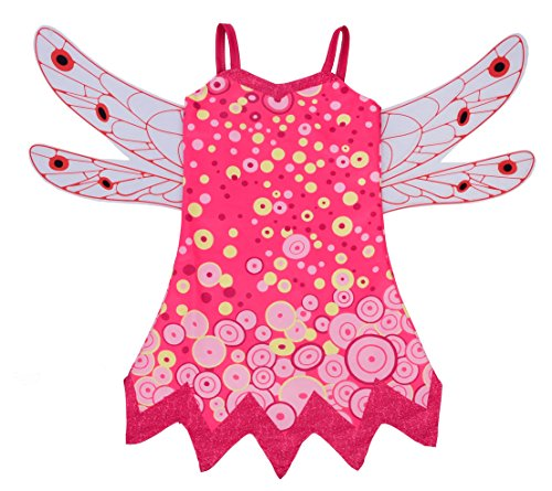 Dressy Daisy Girls Mia and Me Fairy Fancy Dress Costume Halloween Party Outfit w/Wings Size 8/10 Mia -