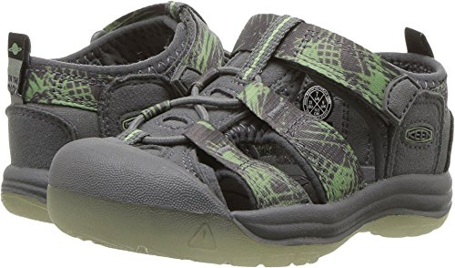 KEEN Toddler (1-4 Years) Newport H2 Steel Grey/Glow Sandal - 5 M US Toddler