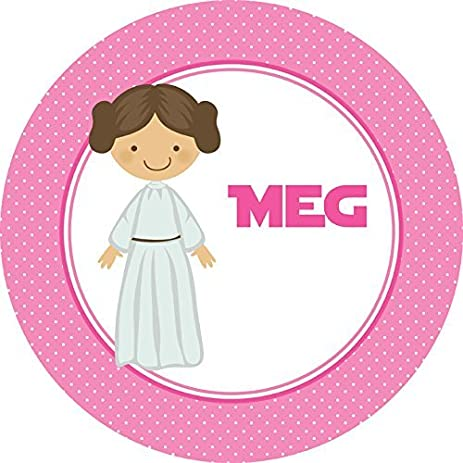 Pink Princess Personalized Melamine Plate  sc 1 st  Amazon.com & Amazon.com   Pink Princess Personalized Melamine Plate: Dinner Plates