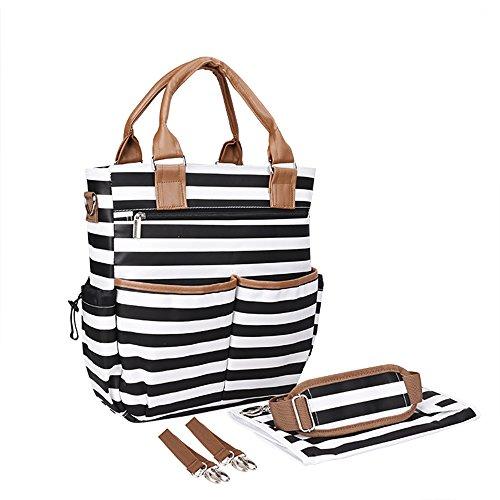 Multifunctional Large Capacity Diaper Bag, Mother And Baby Bag, Outer Travel Handbag Black ()
