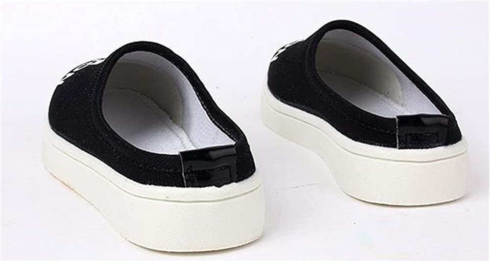 SUNNY Store Girls Lovely Bowknot Slip On Loafers Canvas Shoes Sandal