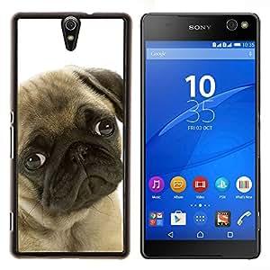 LECELL--Funda protectora / Cubierta / Piel For Sony Xperia C5 Ultra -- Pug Sad Eyes Perro lindo canina mascotas --