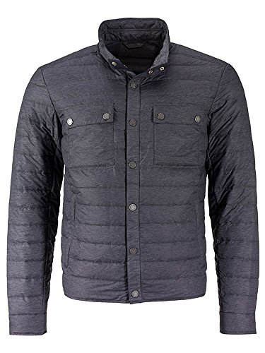 Moda Alla Down Dettagli Lightweight melange Black Jacket Con Leggero Men's Piumino q1I4Pw