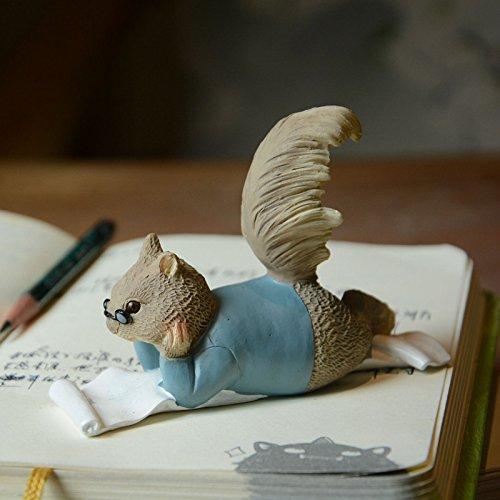 Gemmia Garden Squirrel Figurine-Raise Books Squirrel Statue