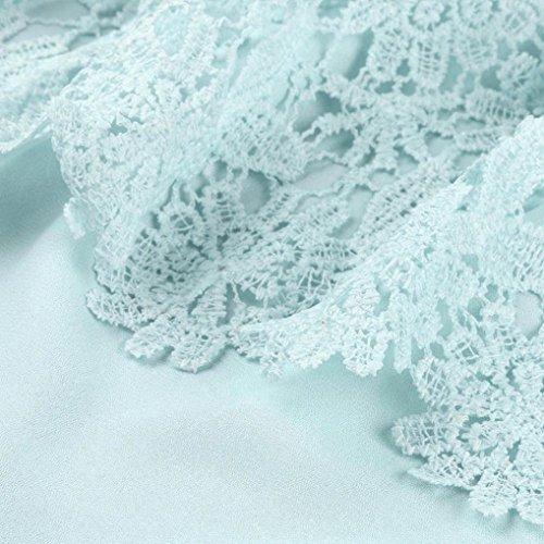 Top Camicia M Chiffon Spalle shirt da Donna con T Donna da da In Verde in Sonnena Cuciture Camicetta pizzo Casual Senza Mento Bianco Donna Spalline Donna con Scoperte Maglietta dZqvg44
