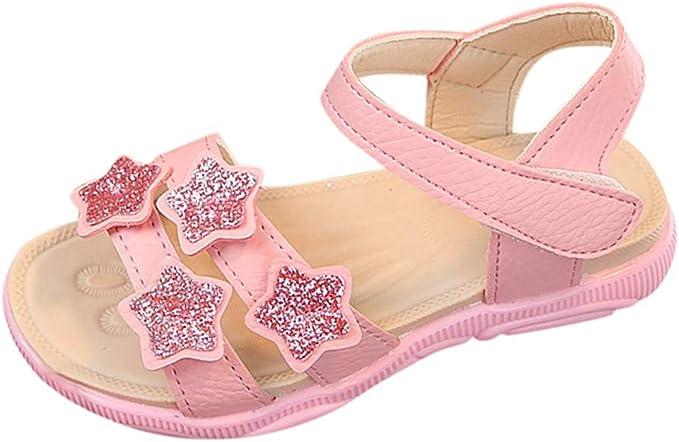 Amazon.com: Sandalias planas para niños pequeños, suela ...
