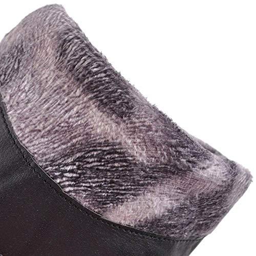 Pull Pull Pull Tacco Blocco Moda Donna Giallo Slouch Stivali COOLCEPT Marrone Marrone Marrone Marrone On 7qP6vBwwp