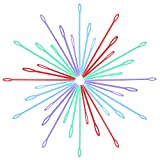 36 Pieces Colorful Plastic Sewing Needles eBoot Plastic Lacing Needles, 3 Size (7 cm, 9 cm, 15 cm)