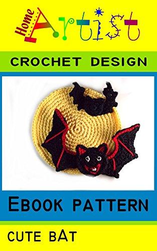 Halloween Bat Crochet Patterns (Bat + Moom Halloween crochet Applique)