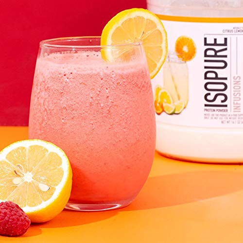 ISOPURE INFUSIONS, Refreshingly Light Fruit Flavored Whey Protein Isolate Powder, ''Shake Vigorously & Infuses in a Minute'', Citrus Lemonade, 16 Servings by Isopure (Image #7)