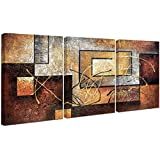Phoenix Decor-Abstract Canvas Wall Art Paintings on Canvas for Wall Decoration Modern Painting Wall Decor Stretched and Framed Ready to Hang 3 Piece Canvas Art