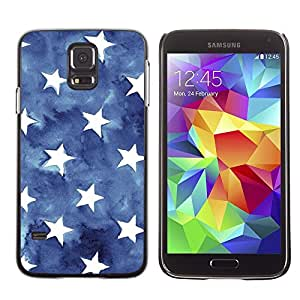 Be Good Phone Accessory // Dura Cáscara cubierta Protectora Caso Carcasa Funda de Protección para Samsung Galaxy S5 SM-G900 // Blue Watercolor American Flag