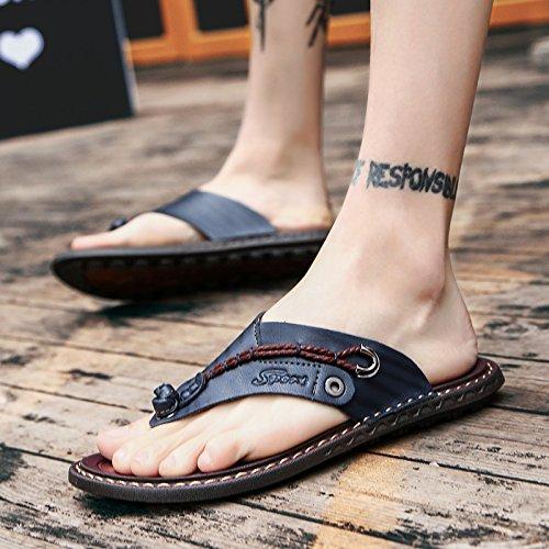 da Sandali casual Sandali Sandali uomo e pantofole da da Sandali AIHUWAI Words da Sandali uomo Sandali uomo Summer Men's The blue uomo Large Sandali Uomo Size vqpnzxFP