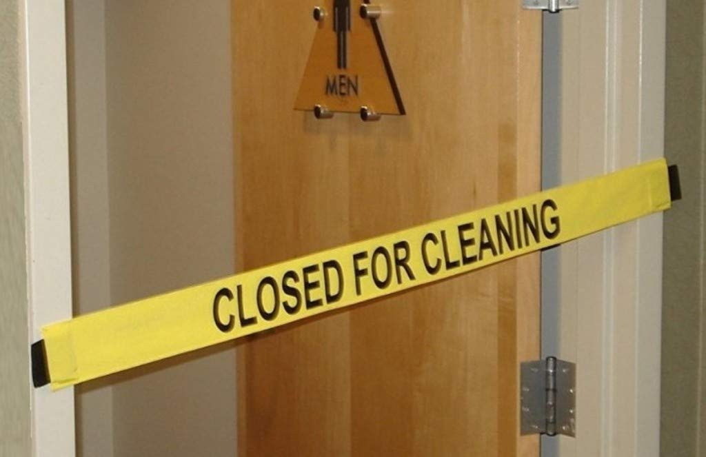 Closed for Cleaning Sign - Nylon Banner with Magnetic Ends-12 Pack (Slight Imperfections)