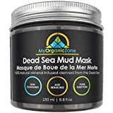 Dead Sea Mud Mask for Face and Body Deep Pore Cleansing, Acne Treatment, Anti Aging and Anti Wrinkle, Organic Natural Facial Mask for Smoother and Softer Skin (250g./8.8oz.) - Licensed by Health Canada