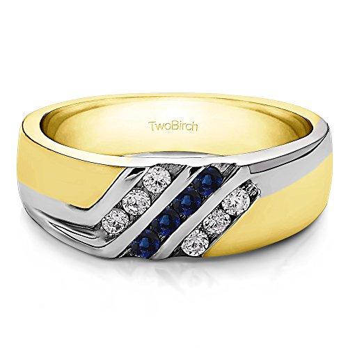 Two Tone Diamond Promise Ring - 7