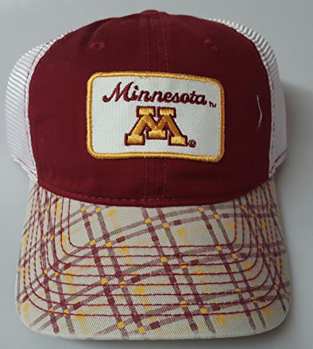 New! Minnesota Golden Gophers Embroidered Adjustable Buckle Mesh Cap by NCAA