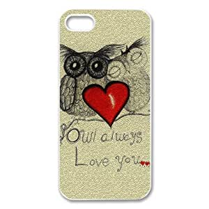 Zheng caseZheng caseiphone 4/4s /iPhone 4/4s Covers Hard Back Protective-Unique Design Cute Owl Always Love you Coffee Owl Case Perfect as Christmas gift(5)