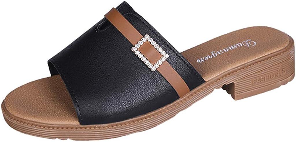 Womens Slides Wedges Platform Sandal Summer Slippers Flip Flops Non-Slip House Shoes Pumps Dress Shoes for Women