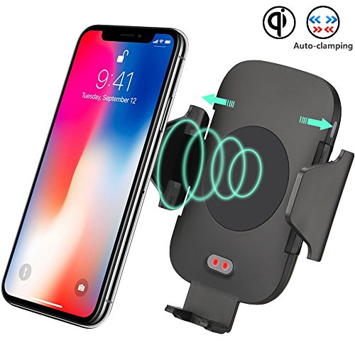 Kit Induction Type (Wireless Car Charger, Bhuato Automatic Induction Car Mount Air Vent Phone Holder Compatible Samsung Galaxy S9/S9 plus/S8/S8 plus/S7/S7 Edge/S6 Note 8/5 & Qi Enabled Devices (Type 1))