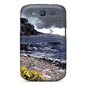 New Shockproof Protection Case Cover For Galaxy S3/ Ocean Shore Flowers Case Cover