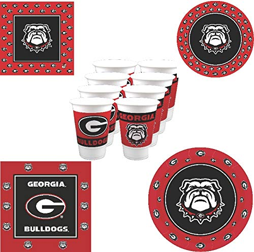 Westrick Georgia Bulldogs Party Supplies - 80 Pieces -