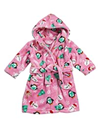 Boys and Girls Christmas Dressing Gowns Lovely Soft Coral Fleece