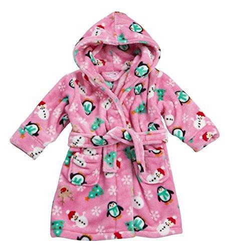 Babytown Baby Boys and Girls Christmas Dressing Robe Pink 18-24