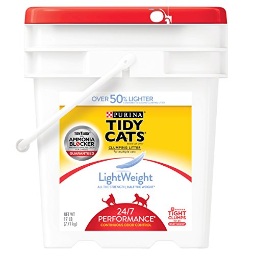 Purina Tidy Cats LightWeight 24/7 Performance for Multiple Cats Clumping Cat Litter - 17 lb. Pail