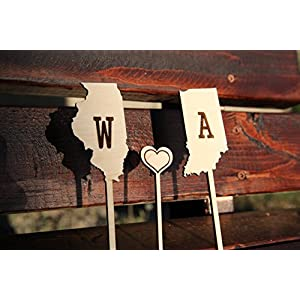 Personalized Cake Topper - State Initials