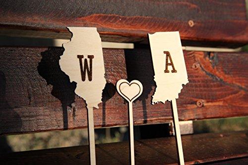 Personalized Cake Topper - State - Bans Ray Personalized