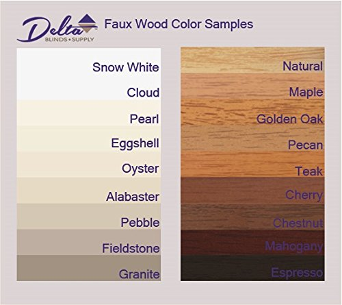 Delta Blinds Supply Custom-Made, Faux Wood Horizontal Window Blinds, 2 Inch Slats, Inside Mount, Golden Oak, Inside Window Size: 18'' W x 24'' L by Delta Blinds Supply (Image #7)